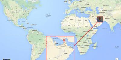 Karta Svijeta Dubai Dubai Lokacija Na Karti Svijeta Ujedinjeni